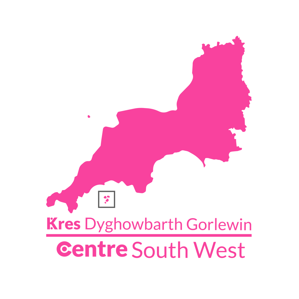 A map of the South West with the Centre logos for that area below.
