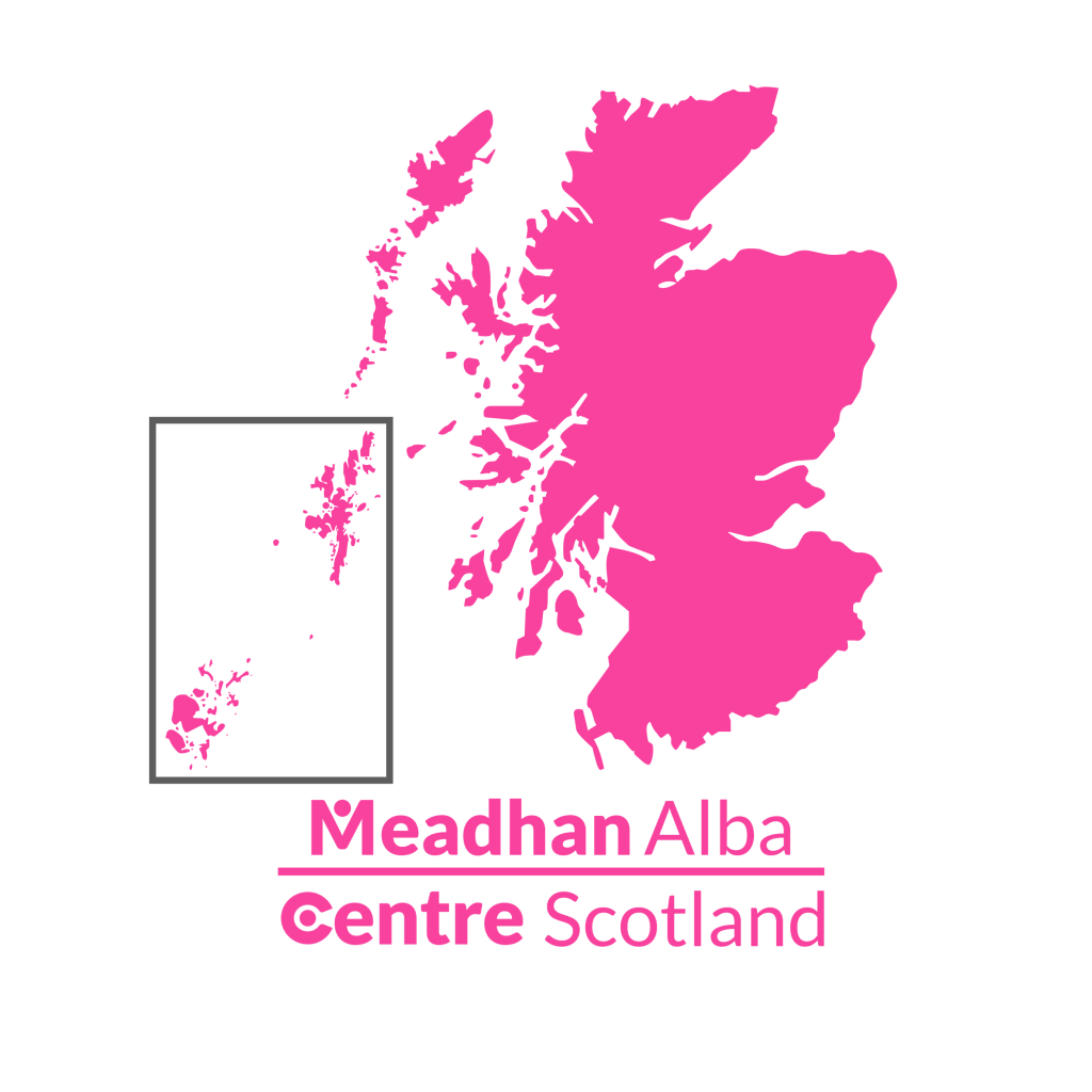 A map of Scotland with the Centre logos for that area below.