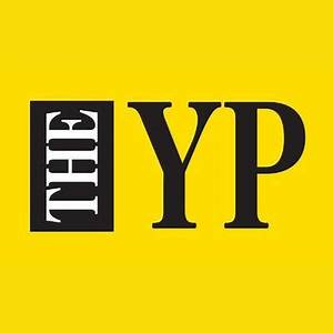 THE YP on a yellow background